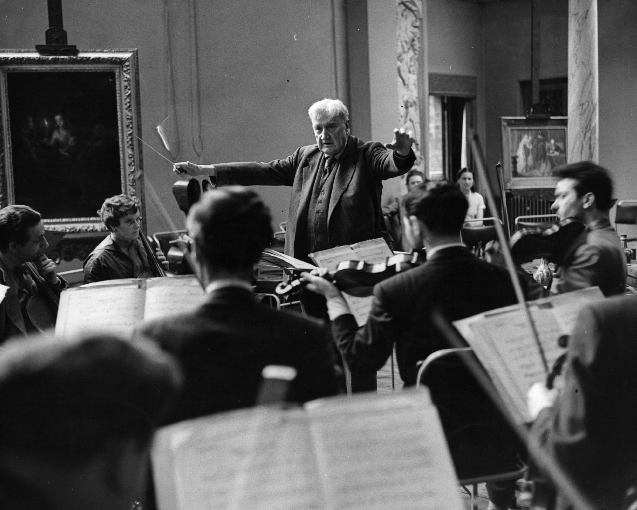 Vaughan Williams conducting